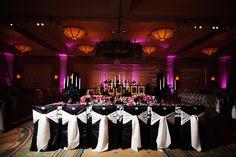 Belo Mansion wedding with black, white & pink color scheme