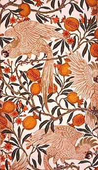 (angry) Cockatoo and Pomegranates, 1899 - Walter Crane wallpaper