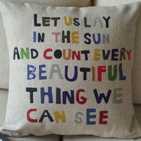 Colorful Quote Decorative Pillow [077] : Cozyhere