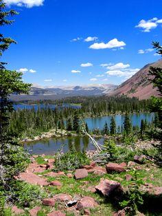 Heart Lake in the Uinta Mountains, Utah.  Looks so peaceful.