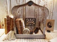 Birdcage with Books