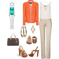 """""""Straight (Rectangle) Body Type"""" by impressprofess-504 on Polyvore"""