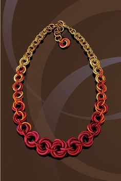 Handmade Chainmaille Jewelry by Rebeca Mojica | HOME. Not a fan of the colors but the design is wonderful