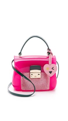 Furla Shearling Candy Bon Bon Mini Bag