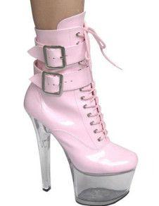 Fabulous Cool Pink 6 7/10\\ High Heel Buckle Fashion Shoes - Free Coupon Code Shop