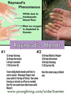 Essential Oil Blends for Raynaud's #reynauds #yleo www.theoildropper.com