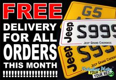 This picture is about our offer what is going on right now. Please don't delay and use this chance for free delivery right now. www.motoshowplates.com