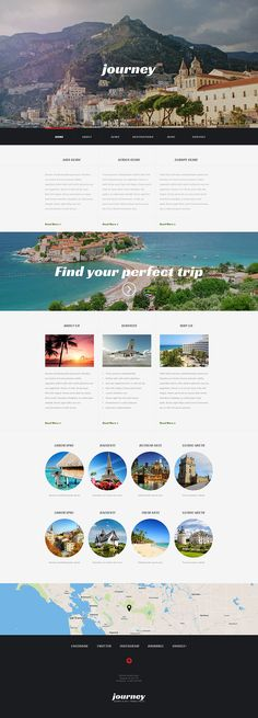 Travel Agency Responsive WordPress Theme #54044