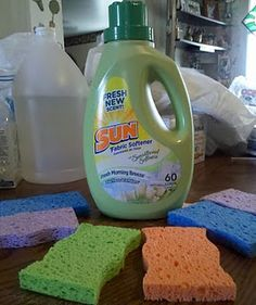 Homemade Dryer Sheets/Rag/Sponge. Choose your favorite softener. 1 Part Softener,2 Part Water.OR Just Use Softener. Soak item in softener. I let mine dry and toss in dryer when needed. The moist clothes will activate the softener. Long lasting and just soak again when when you feel the need.(It will not be often)