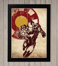 Vengeurs 4 minimaliste affiche la valeur Captain par CultPoster
