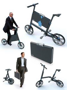 """Conheça a bicicleta """"Bikoff"""", criada pelo designer Marcos Madia. Será uma nova opção de transporte nesse caos urbano???"""