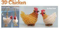 3D Beaded Chicken Pattern | Bead-Patterns