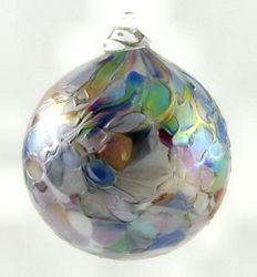 Marble Ornament in Pastel, Blue or Multi  VIRGIL JONES  $16.50   Handblow