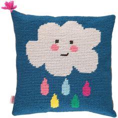 Handmade Tapestry Cushion/ Cloud | Tootsa MacGinty