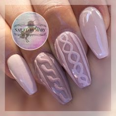 Winter sweater weather Christmas cozy cute acrylic coffin style nude taupe designs art nails