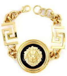 Lion head and Greek Key bracelet