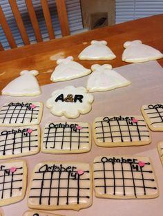 A few bridal shower cookies in the works