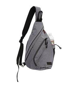 VPAX Sling Shoulder Bag Crossbody Multipurpose Daypack with Padded iPad Pouch Silver * Visit the image link more details.