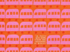 Love this bus Paris bus print illustrated by Saul Bass in 1962.