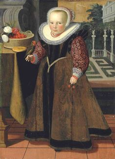 1599 attr Gortzius Geldorp (Dutch painter, 1553–1618) Portrait of a Girl aged 4, dated 1599