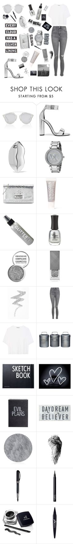 """""""Every cloud has a silver lining."""" by totalteenagenobody ❤ liked on Polyvore featuring Christian Dior, Tom Ford, Silver Lining, STELLA McCARTNEY, Michael Kors, Love Moschino, FCTRY, Charlotte Russe, Obsessive Compulsive Cosmetics and Burberry"""