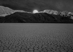 """La Luna de Muerte"" - moonrise over the Racetrack Playa - Death Valley, CA"