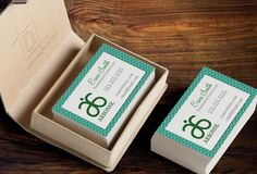 Arbonne Business Card Template - Independent Consultant Business Branding & Marketing - Arbonne Green Herringbone Business card