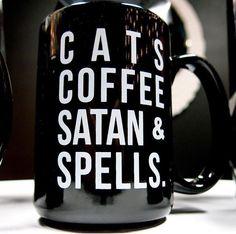 Gothic witch mug