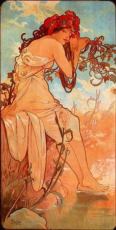 Mucha , art nouveau.