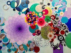 Painting by Beatriz Milhazes. Illustrations, Illustration Art, Photography Illustration, Brazil Art, Indian Folk Art, Learn Art, Art Graphique, Modern Artists, E Design