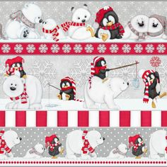 F6537-98 , Arctic Antics by Shelly Comiskey of Simply Shelly Designs, Henry Glass & Co., Inc.