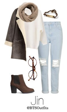 """""""Winter Date with Jin"""" by btsoutfits ❤ liked on Polyvore featuring Topshop, MANGO, Retrò, H&M and Banana Republic"""