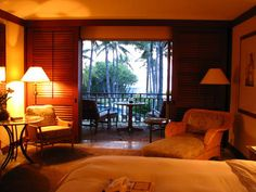 View and amenities of a room at the Four Seasons Hualalai