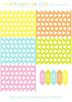 Free Filler Cards ad 2015 Labels for Project Life
