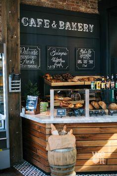 Bakery Shop Interior, Bakery Shop Design, Cafe Interior Design, Coffee Shop Design, Restaurant Design, Modern Restaurant, Rustic Bakery, Bakery Cafe, Bakery Shops