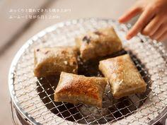 七輪で焼く玄米もち