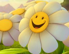 Send this cute smiley ecard to someone special. Free online My Smile Is Just Coz Of You ecards on Cute Cards Monday Wishes, Happy Monday, Happy Week, Bon Weekend, Cute Flower Images, Flower Images Wallpapers, Whatsapp Pictures, International Day Of Happiness, Daisy