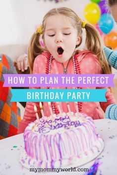 Make birthday party planning for kids easy with this checklist, which gives you a timeline to come up with birthday party ideas, birthday decorations, food ideas, the birthday cake and more!