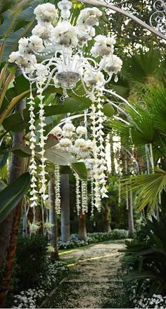Glamorous wedding ceremony idea; via Amy's Orchids