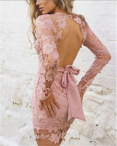 Hot-Lady-Summer-Deep-V-Neck-Evening-Party-Cocktail-Lace-Bowknot-Short-Mini-Dress