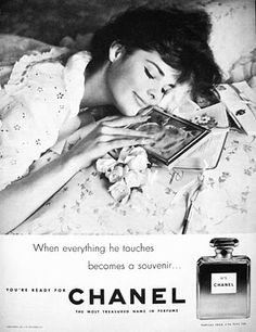 1950's Chanel add. Born in the 50's and wearing Chanel now in my 50's!! :))
