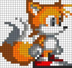Tails Sonic perler bead pattern