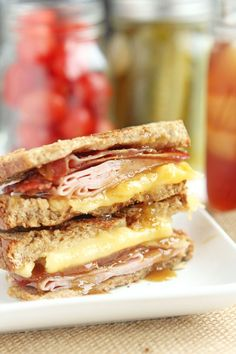 Bacon Ham and Grilled Cheese with Brown Sugar Mustard | Carmel Moments