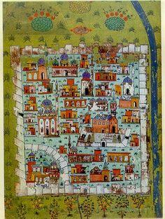 Matrakçı Nasuh-Diyarbakır-Beyan-i Menazil-i Sefer-i Irakeyn-i Sultan Suleyman, written circa 1537. (Istanbul University Library)