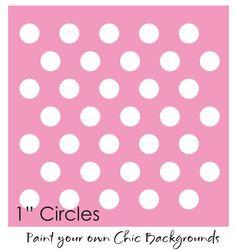 1 Polka Dot Chic Stencil Shabby Cottage Wall Art Circle Template Pattern Signs | eBay