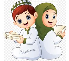 Couple Cartoon, Cartoon Kids, Cartoon Images, Girl Cartoon, Urdu Stories For Kids, Moral Stories For Kids, Couples Muslim, Muslim Girls, Dossier Photo