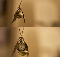 Harry Potter golden snitch pendant necklace.