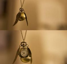 Harry Potter golden snitch pendant necklace. GOTTA HAVE IT!!!!!!