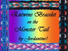 New Entwine Bracelet - Reversible- Monster Tail - Rainbow Loom Crazy Loom Bracelets, Loom Band Bracelets, Rainbow Loom Bracelets, Knit Bracelet, Friendship Bracelets, Rainbow Loom Tutorials, Rainbow Loom Patterns, Rainbow Loom Creations, Loom Bands Instructions