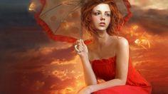 Girl with umbrella...